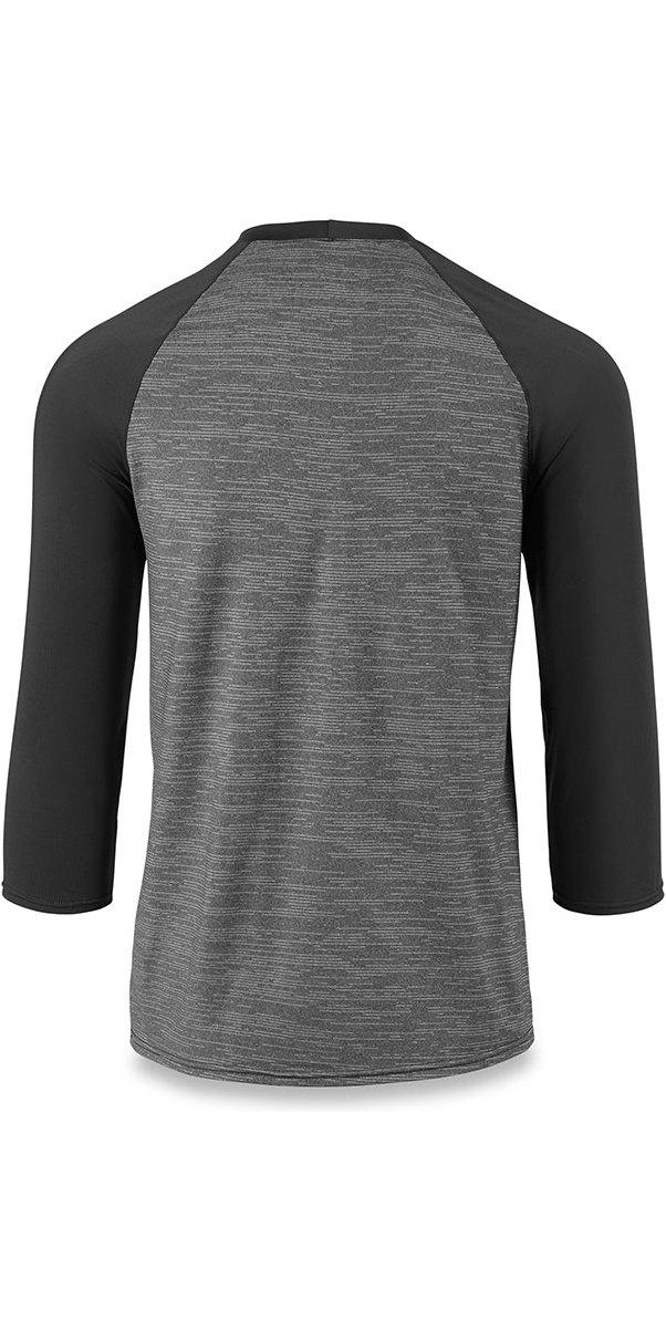 Dakine Roots Ragaln Loose Fit 3/4 Sleeve Surf Shirt Black Heather 10001665