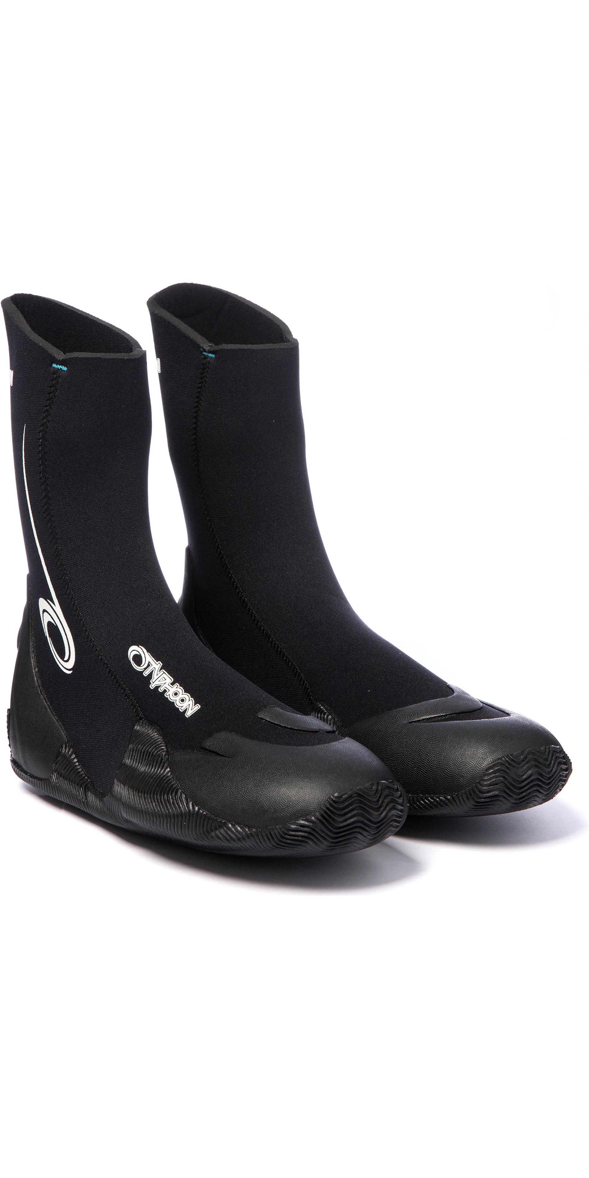 2019 Typhoon Vortex 5mm Round Toe Wetsuit Boots 300320 - Black