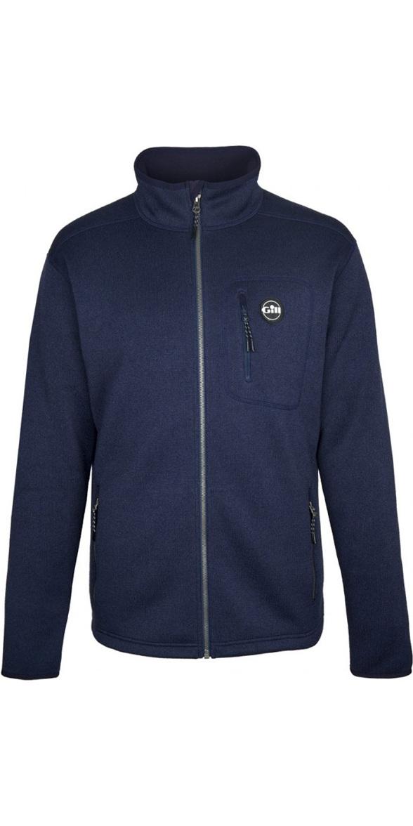 2019 Gill Mens Knit Fleece Jacket Navy 1493