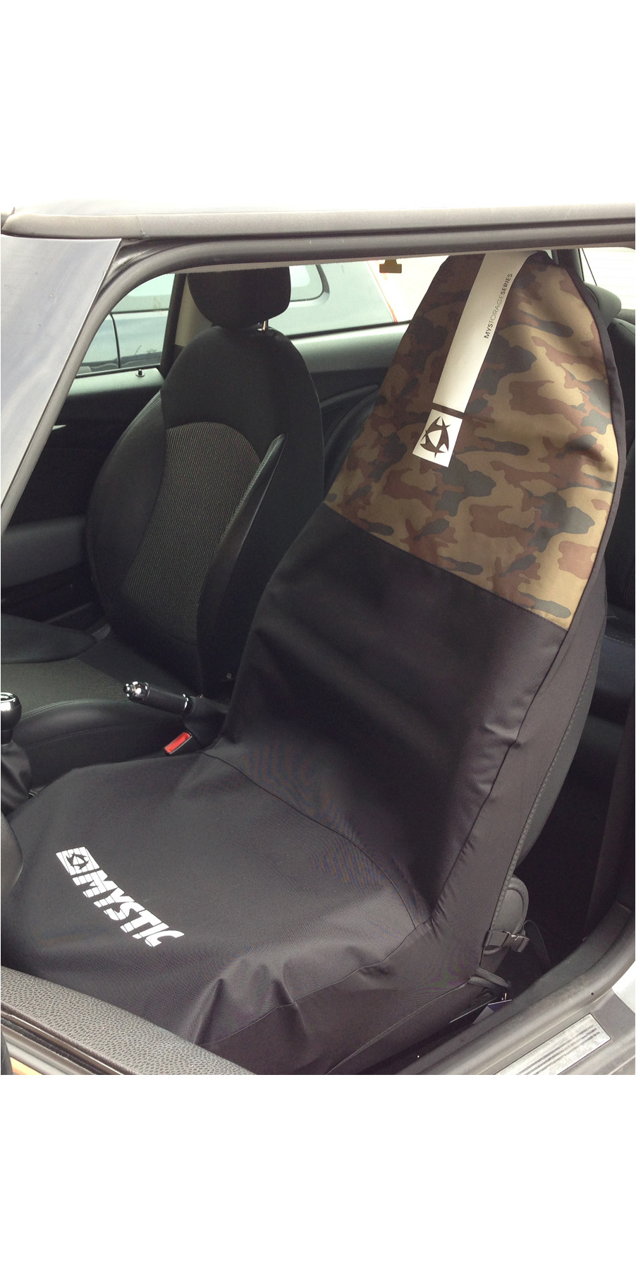 2018 Mystic Car Seat Cover Single Black Camo 150325 150325 By Mystic Mystic Car Seat
