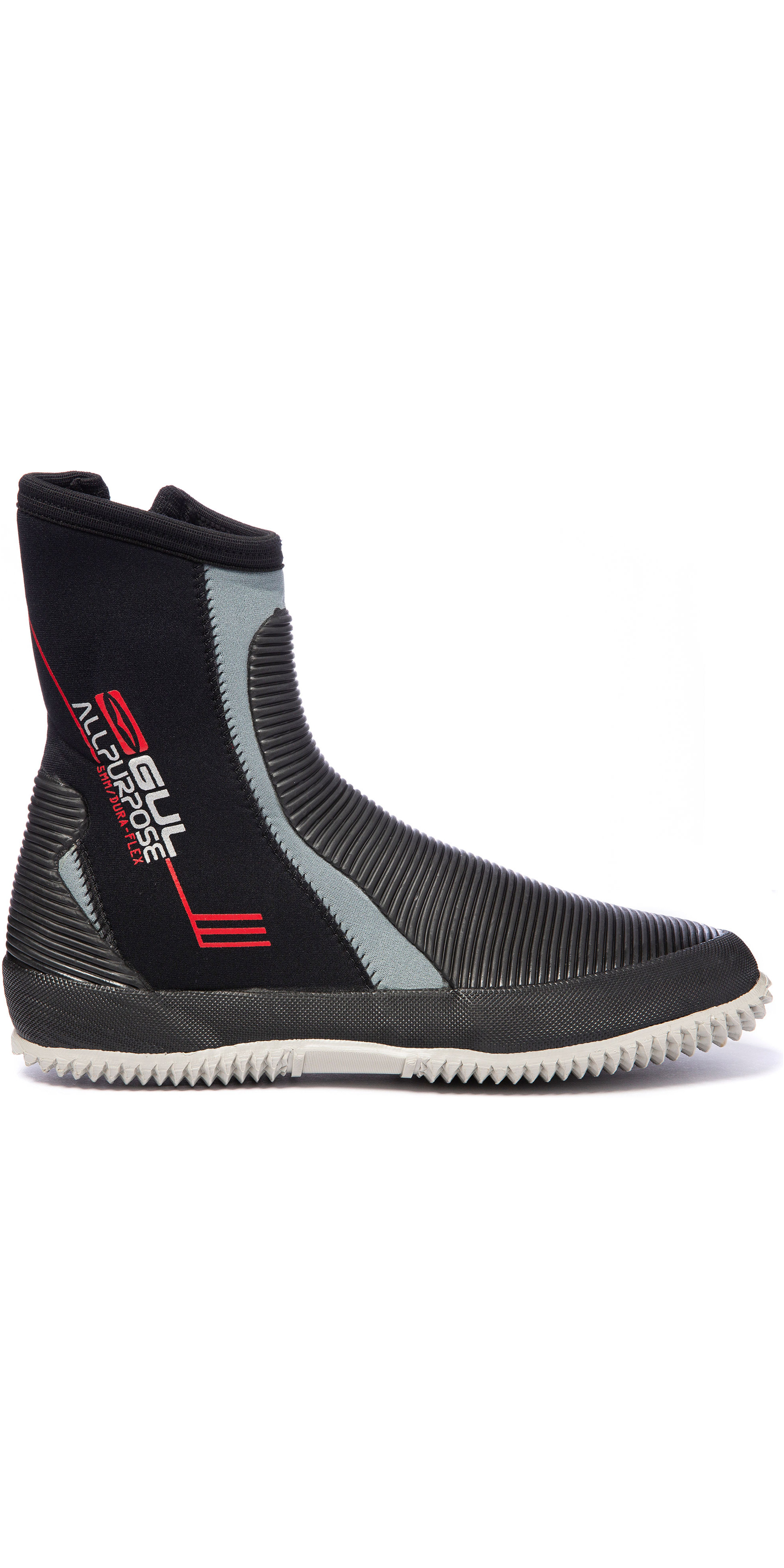 2019 Gul All Purpose 5mm Neoprene Zipped Boots BO1276 - Black / Grey
