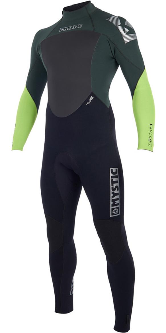 2019 Mystic Star 4/3mm GBS Back Zip Wetsuit Teal 180019