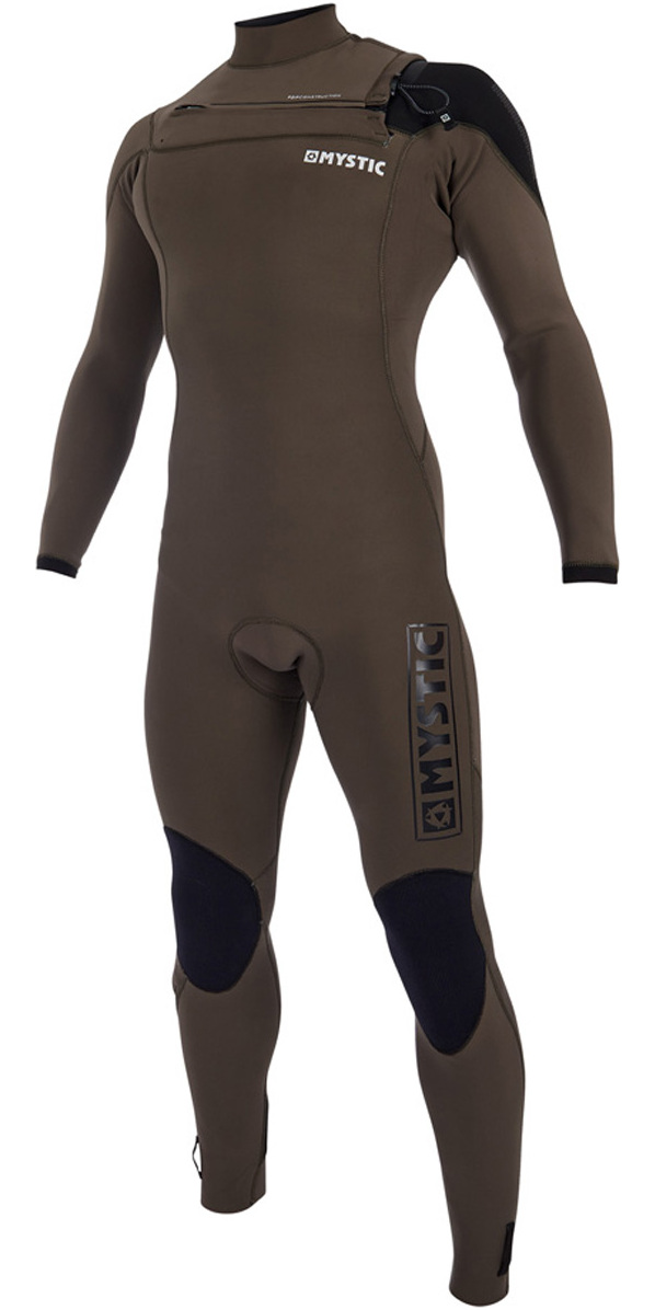 2019 Mystic Majestic Chest Zip Wetsuit 5/3mm Dark Olive 190000