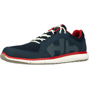 2021 Helly Hansen Ahiga V4 Hydropower Sailing Shoes 11582 - Navy / Flag Red