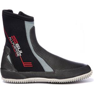2019 Gul All Purpose 5mm Neoprene Zipped Boots BO1276 - Black / Grey