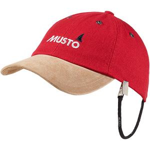 2021 Musto Evo Original Crew Cap in True Red AE0191