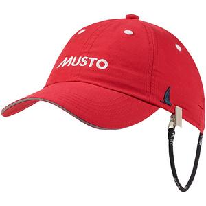 2021 Musto Fast Dry Crew Cap in RED AL1390