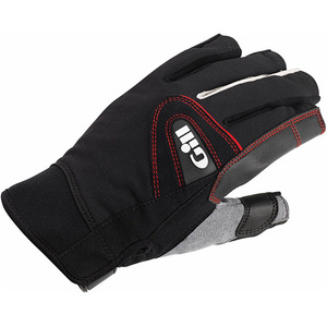 2020 Gill Championship Short Finger Sailing Gloves Black 7242