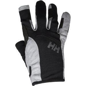 2021 Helly Hansen Long Finger Sailing Gloves Black 67771