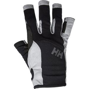 2021 Helly Hansen Short Finger Sailing Glove Black 67772
