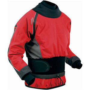 2020 Nookie Turbo White Water Jacket LAVA RED / CHARCOAL GREY JA10