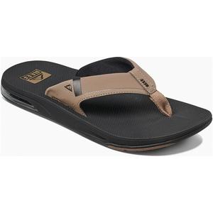 2019 Reef Mens Fanning Sandals / Flip Flops Low Black / Tan RF0A3KIH