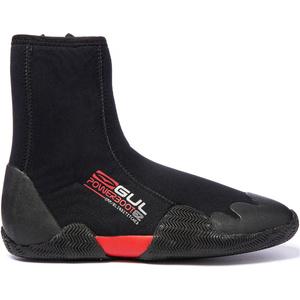 2019 Gul Junior Power 5mm Round Toe Zipped Boots BO1307-B2 - Black / Red