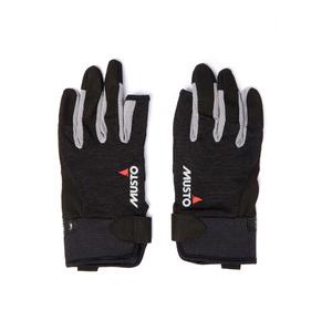2021 Musto Essential Sailing 3 Finger Gloves AUGL002 - Black
