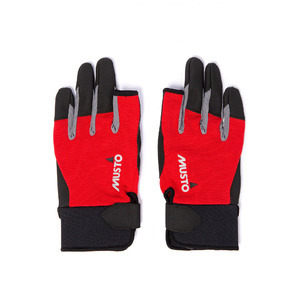 2020 Musto Essential Sailing Long Finger Gloves AUGL002 - Red