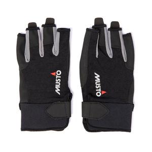 2021 Musto Essential Sailing Short Finger Gloves AUGL003 - Black
