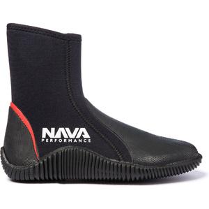 2020 Nava Performance 5mm Neoprene Zipped Boots NAVABT02 - Black