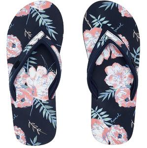 2020 Animal Womens Swish Slim AOP Flip Flops / Sandals FM0SS304 - India Ink Blue