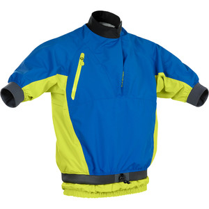 2020 Palm Mens Mistral Short Sleece Kayak Jacket 12508 - Cobalt / Citrus