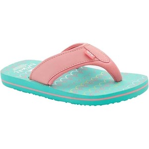 2019 Animal Junior Girls Swish AOP Flip Flops Turquoise FM9SQ802