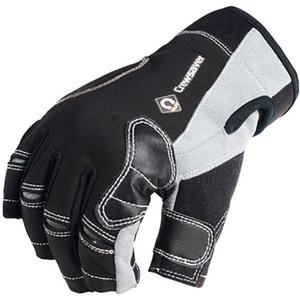 2021 Crewsaver Short Finger Gloves Black 6950