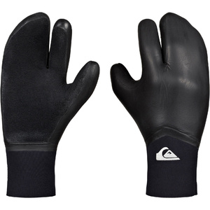 2019 Quiksilver Highline 5mm Neogoo 3 Finger Gloves Black EQYHN03034