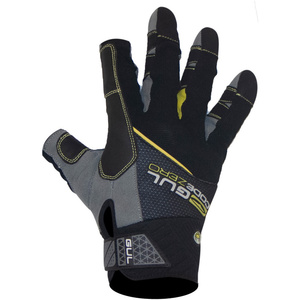 2021 Gul CZ Summer 3-Finger Gloves Black GL1241-B6