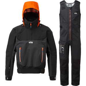 2020 Gill Mens Race Fusion Smock & Salopette Combi Set - Black