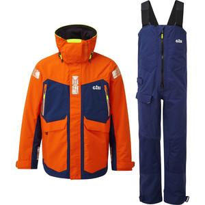 2020 Gill OS2 Mens Offshore Jacket & Trouser Combi Set - Tango / Blue