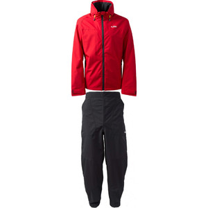 2020 Gill Mens Pilot Jacket IN81J & Trouser IN81T Combi Set Red / Graphite