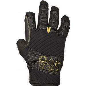 2020 Gul Junior EVO Pro Three Finger Sailing Gloves Black GL1300-B4