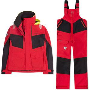 2020 Musto Mens BR2 Coastal Jacket & Trouser Combi Set - Red