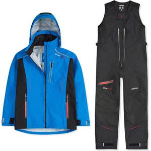 2020 Musto Mens BR2 Sport Jacket & Salopettes Combi Set - Blue / Black