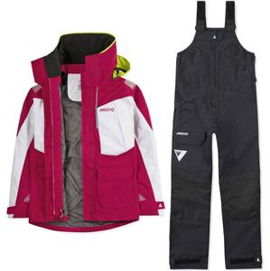 2020 Musto Womens BR2 Offshore Jacket & Trouser Combi Set - Cerise / White / Black