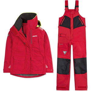 2019 Musto Womens BR2 Offshore Jacket & Trouser Combi Set - Red