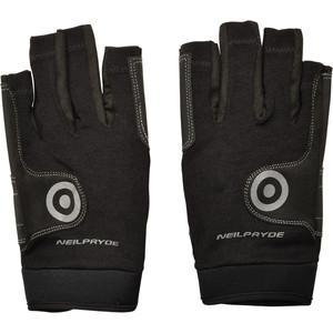 Neil Pryde Regatta Half Finger Sailing Gloves 630541 - Black