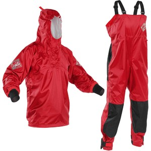 2020 Palm Centre Kayak Smock & Salopette Combi Set - Red