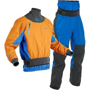 2020 Palm Mens Zenith Whitewater Kayak Jacket & Trouser Combi Set - Sherbet / Blue