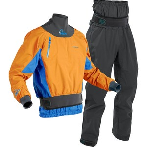 2020 Palm Mens Zenith Whitewater Kayak Jacket & Trouser Combi Set - Sherbet / Grey