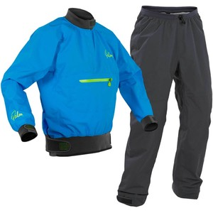 2020 Palm Mens Vector Kayak Jacket & Trouser Combi Set - Blue / Grey