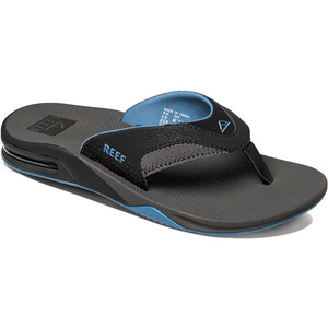 2020 Reef Fanning Bottle Opener Flip Flops GREY / LIGHT BLUE R2026