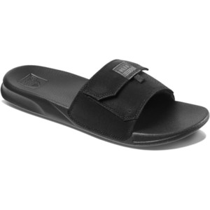2020 Reef Mens Stash Slide Flip Flops / Sandals RF0A3YMJ - Black