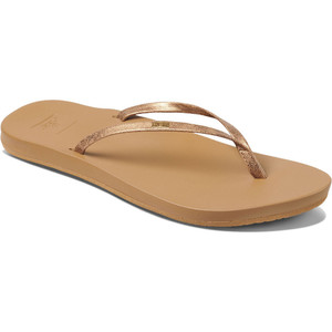 2020 Reef Womens Cushion Bounce Slim Flip Flops / Sandals RF0A39U6 - Copper