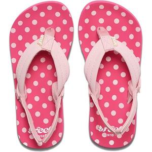 2019 Reef Junior Little Ahi Sandals / Flip Flops Polka Dot RF002199PKD1