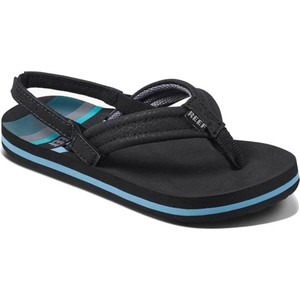2019 Reef Kids Little Ahi Flip Flops Water Blue RF002345
