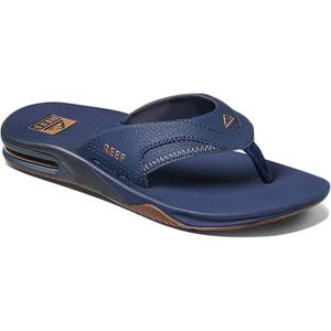 2021 Reef Mens Fanning Flip Flops / Sandals CI2544 - Deep Seas