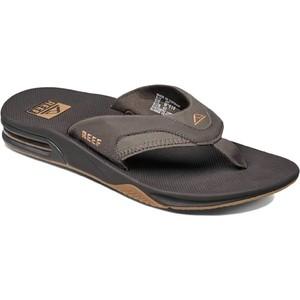 2021 Reef Mens Fanning Flip Flops / Sandals RF002026 - Brown / Gum