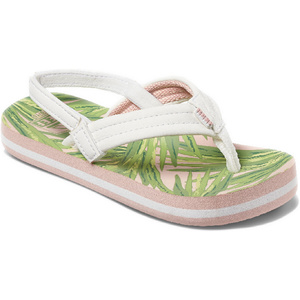 2020 Reef Toddler Little Ahi Flip Flops / Sandals RF002199 - Tropical Palms
