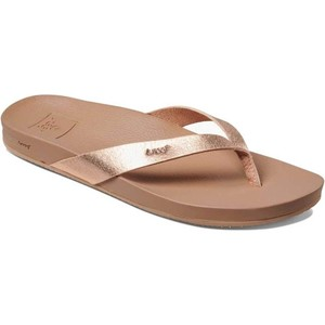 2020 Reef Womens Cushion Bounce Court Sandals / Flip Flops Rose Gold RF0A3FDS