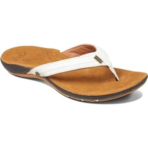 2020 Reef Womens Miss J-Bay Sandals / Flip Flops Tan / White RF001241